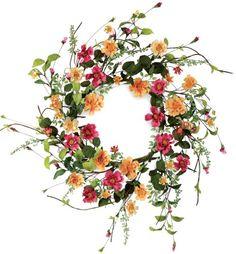 Melrose International Wild Flower Garden Artificial Wreath, 22-Inch $41.99 #bestseller