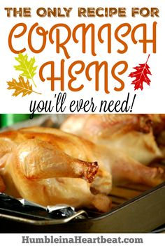Cornish hens are a fabulous choice for a holiday meal, especially when it will…