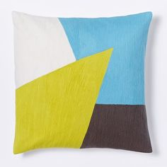 West Elm $25 on sale, Graphic Patchwork Jagged Pillow Cover