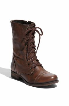 Lace up combat boots with cuffs and leggings. Cute and rugged for ...