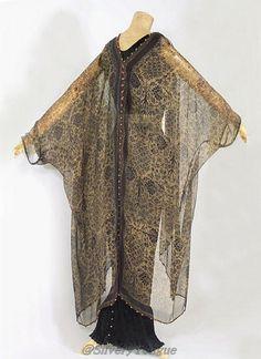 Back: Fortuny stenciled silk gauze wrap, c.1920