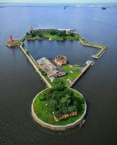 Baltic Sea From Above: Stunning Drone Photography by Sergey Vasilyev Who wants their own personal lake and island? Wonderful Places, Beautiful Places, Star Fort, Drone Photography, Photography Ideas, Beautiful Islands, Abandoned Places, Places To Go, Scenery