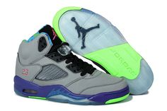 Air Jordan 5 Grey Purple Shoes