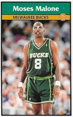 Pro Basketball, Basketball Cards, Moses Malone, Nba Shirts, Card Companies, Milwaukee Bucks, Nba Players, Aba, Trading Cards