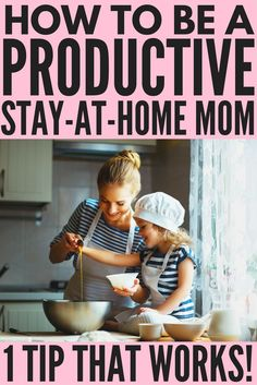 What to know how to be a productive stay at home mom? It's not as hard as you think. We're sharing ONE tip we use on the daily to stay focused, reach our goals, and get more done in less time, even on days when life is hectic, busy, and chaotic. This productivity tip will give you the tools you need to learn how to make a morning routine that works so you can wake up with focus and direction each morning. Having a work-life balance has never been easier!