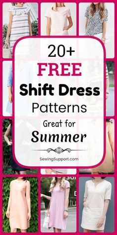 Good Absolutely Free sewing dresses shift Strategies Free Dress Patterns: Over 20 free shift dress patterns, diy projects, and sewing tutorials. Sew th Simple Dress Pattern, Shift Dress Pattern, Summer Dress Patterns, Dress Sewing Patterns, Sewing Patterns Free, Clothing Patterns, Easy Sewing Projects, Sewing Projects For Beginners, Sewing Tutorials