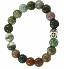 India agate buddha bead bracelet ($18) ❤ liked on Polyvore featuring jewelry, bracelets, beaded bangles, beaded jewelry, agate bangle, agate jewelry and beading jewelry
