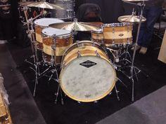"From Steve Maxwell Drum Shop. Craviotto 10th Anniversary kit, sized 13-16-18-24, with 6.5"" snare. Sweet!"