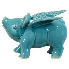 Flying Pig Statuette