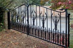 G27: Gothic Wrought Iron Driveway Gates