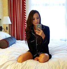 Jessica Ricks, Pajama Top, Nightwear, Cool Outfits, Hair Makeup, Underwear, Pajamas, Classy, Comfy