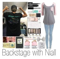 """Backstage with Niall"" by sassy-queen01 ❤ liked on Polyvore featuring Topshop, Wet Seal, Converse, NARS Cosmetics, Maybelline, H&M, Chanel, Kate Spade, Maison Margiela and Hershey's"