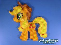 Applejack My Little Pony Friendship is Magic Perler Bead Sprite