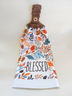 Crochet Towel, Fall Decor, Holiday Decor, Getting A Puppy, Crochet Kitchen, Towel Hooks, Patriotic Decorations, Fall Leaves, Blessed