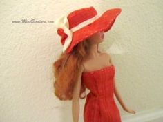 Miss B Couture teaches you how to make a hat for Barbie. http://www.missbcouture.com/english/accessories/orange-white-hat-feb11/#more-2613