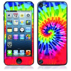 justice ipod cases for girls | OttoSkins.com | Apple iPod Touch 5th Gen. Skin and Cover - Tie Dye ...