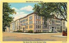 Lawrence Massachusetts MA 1935 High School Antique Vintage Linen Postcard Lawrence Massachusetts MA 1935 High School. Unused Curteich collectible antique vintage linen postcard in very good condition