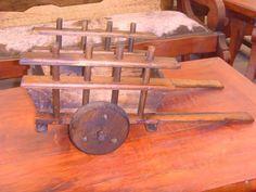 Exclusiva Carreta Decorativa De Madera Estilo Antigua. - $ 599.00 en Mercado Libre