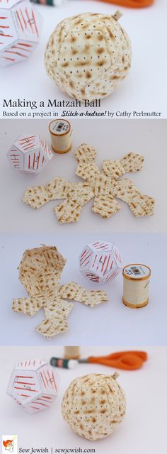 Sewing fabric matzah balls, a fun and relaxing project based on a pattern in Stitch-a-hedron! by Cathy Perlmutter Fabric Balls, Dimensional Shapes, English Paper Piecing, Printing On Fabric, Hand Sewing, Stitch, Book, Projects, Pattern