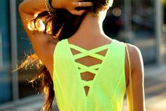 Back neon dress