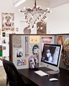 "office space on Design*Sponge. Fashion site Refinery29 just moved their 70-person team into this space in New York's Cooper Square. They worked with designer Chad McPhail to create a space that ""balances clean-lined minimal elements with more rustic industrial materials to create a neutral canvas"" to be filled with color and pattern."