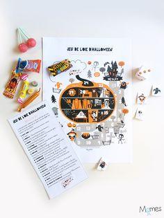 A imprimer : un jeu de l'oie hyper rigolo pour Halloween ! Bonbon Halloween, Soirée Halloween, Bricolage Halloween, Halloween Themes, Games For Kids, Diy For Kids, Teaching French, Autumn Activities, Trick Or Treat
