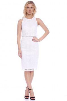 Rochie creion din dantela AM-21709009 alb -  Ama Fashion Dresses For Work, Fashion, Moda, Fashion Styles, Fasion