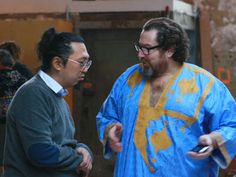 Julian Schnabel and Takashi Murakami  村上隆とシュナーベル