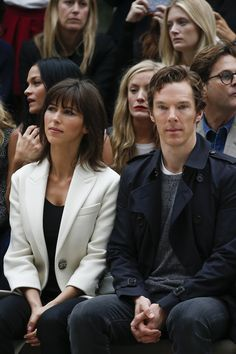 Sophie Hunter and Benedict Cumberbatch at Burberry Prorsum Spring 2016 Ready-to-Wear
