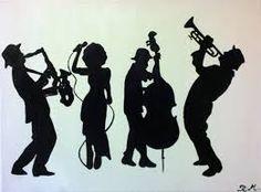 Znalezione obrazy dla zapytania music silhouette