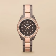 Fossil Rose Gold Watch. I love it! (minus the bedazzle)