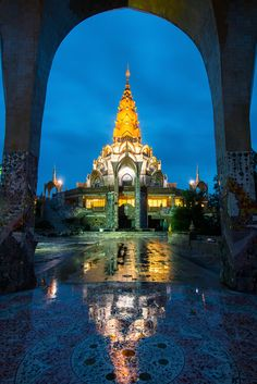 Beautiful temple in Thailand at dusk by Prasit Rodphan on 500px