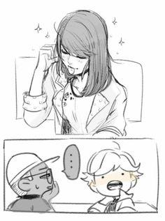 Marinette letting down her hair~ (Miraculous Ladybug, Adrien, Nino)
