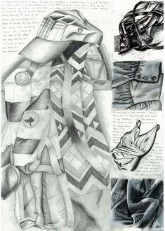 GCSE Art sketchbook page
