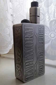 Tapeworm squonk squonker built and etched by Mbboxmods Martin Brown