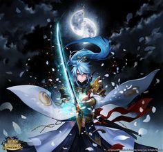 New Fantasy Art Knight Rpg Ideas Seven Knight, Knight Games, Knight Art, New Fantasy, Fantasy Warrior, Anime Manga, Anime Guys, Art Deco Typography, Disney Art Of Animation