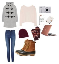 """""""Untitled #86"""" by xcgirl113 on Polyvore featuring Burberry, Merona, Frame Denim, L.L.Bean, Dr. Martens, Banjo & Matilda, Nikon, Casetify, Calvin Klein and Speck"""