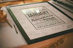 Wedding Invitation Guest Book Poster
