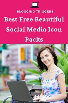 The 25 Best Free Beautiful Social Media Icon Packs In 2018 Social Media Icons, Icon Pack, How To Remove, Group, Board, Blog, Free, Beautiful, Design