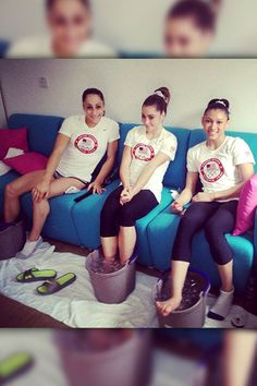 Ice Ice Baby    Gold medal gymnast McKayla Maroney posted with Jordyn Wieber and Kyla Ross: We just love ice bucketing!! #NOT  http://et.tv/NXHuSr