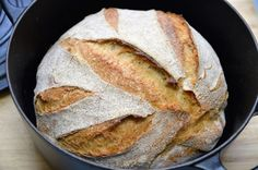 Baking German bread withou kneading / very easy / no knead bread [ENG Subtitles] - Brot backen Baking Bread At Home, German Bread, Paleo Bread, Paleo Pizza, No Knead Bread, Bread Bun, Paleo Sweets, Paleo Breakfast, Greek Recipes