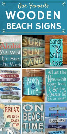 Discover the absolute best wooden beach signs you can get for your beach home. We have a huge variety of tropical, ocean, beachy, and coastal wooden signs.