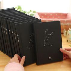 金谷 12星座触感纸本 创意学生笔记本 32K日记本 记事本 硬抄本子