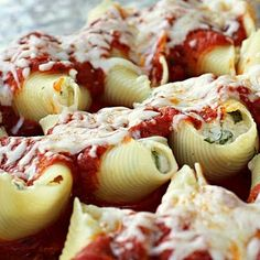 Chicken Spinach Stuffed Shells
