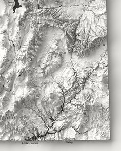 A beautifully rendered artistic Utah map displaying a high level of detail and printed on a fine art professional paper. Your home deserves to feel and look special. Order yours today!