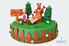 masha and the bear cake - Google Search