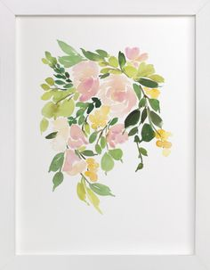 Flora in Peach I By Yao Cheng: http://www.stylemepretty.com/living/2015/11/10/winter-refresh-sweeps-with-minted-west-elm-theskimm/