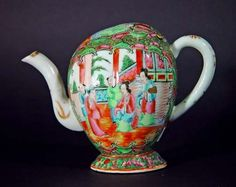 A Rare Chinese Rose Medallion Cadogan Wine Pot (or Teapot), Circa ...