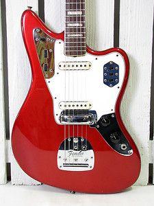 VINTAGE 1966 FENDER JAGUAR ELECTRIC GUITAR CANDY APPLE RED MATCHING HEADSTOCK