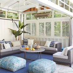 12 Pergola Patio Ideas that are perfect for garden lovers! Outdoor Blinds, Outdoor Rooms, Outdoor Living, Outdoor Furniture Sets, Outdoor Decor, Outdoor Ideas, Patio Seating, Pergola Patio, Pergola Plans